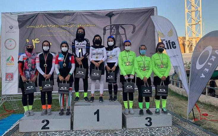 درخشش بانوان آذربایجانشرقی در رقابتهای دوچرخه سواری کشور